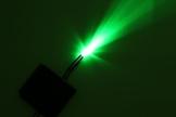 FIBAtec 10x LED verkabelt 12 Volt 3mm / 5mm verkabelte LEDs mit Kabel verlötet 12V Widerstand rot, blau, grün, gelb, weiß, UV (5mm, grün) -