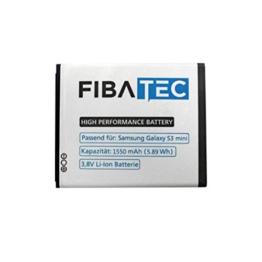 FIBAtec® I Ersatzakku POWER AKKU S3 mini, Android Smartphone, Lithium Ionen Akku, Zusatzbatterie, Ersatz- Akku, Energiequelle Mobiltelefon I Handy Ersatzteile, Batterie, Hochleistungsakku, Zuberhör Galaxy -