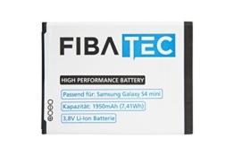 FIBAtec I Ersatzakku POWER AKKU Samsung Galaxy S4 mini, Android Smartphone, Lithium Ionen Akku, Zusatzbatterie, Ersatz- Akku, Energiequelle Mobiltelefon I Handy Ersatzteile, Batterie, Hochleistungsakku -
